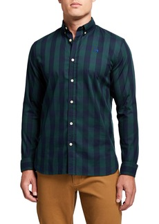 Scotch & Soda Men's BB Check Regular-Fit Sport Shirt
