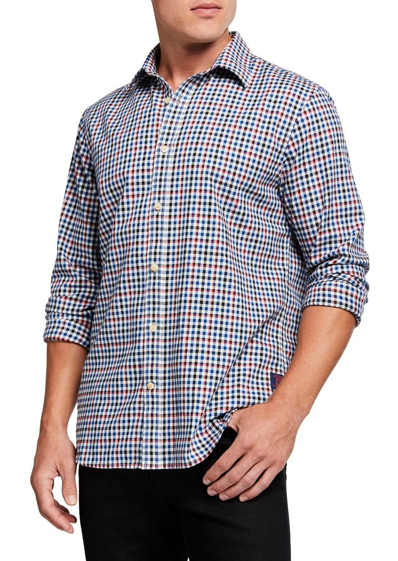 Scotch & Soda Men's Check Worker-Style Regular-Fit Sport Shirt