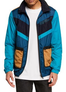 Scotch & Soda Men's Club Nomade Lightweight Colorblock Wind Jacket