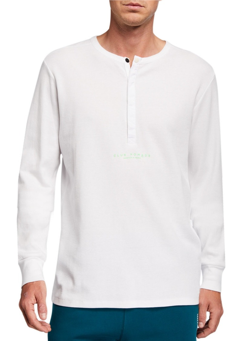 Scotch & Soda Men's Club Nomade Long-Sleeve Henley Shirt