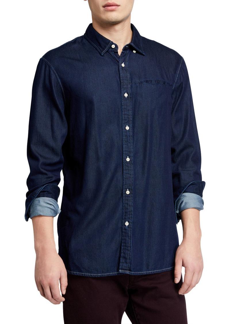 Scotch & Soda Men's Indigo Pocket Chambray Shirt