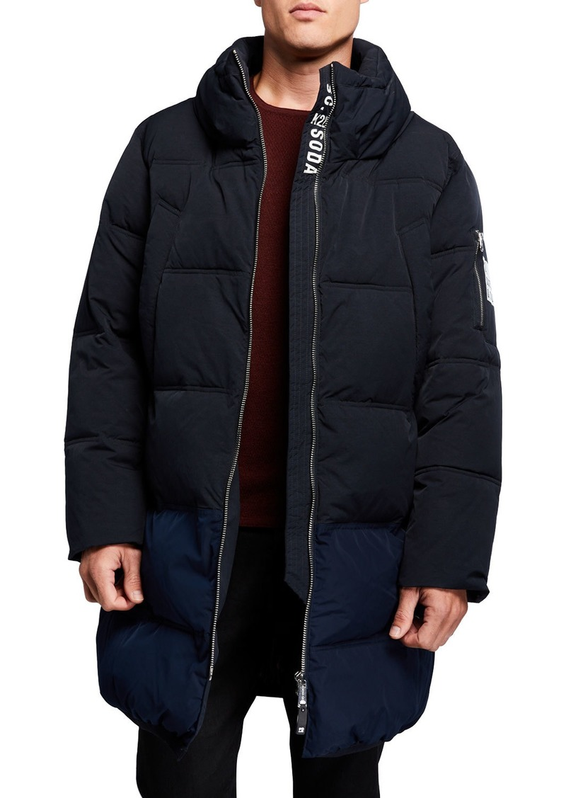 Scotch & Soda Men's Long Quilted Jacket