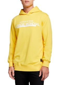Scotch & Soda Men's Photo-Print Logo Pullover Hoodie