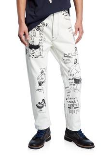 Scotch & Soda Men's Popeye's 90th Anniversary Brutus-Print Straight-Leg Jeans
