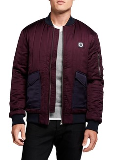 Scotch & Soda Men's Quilted Satin Bomber Jacket