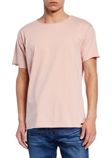 Scotch & Soda Men's Raw-Edge Organic Cotton T-Shirt