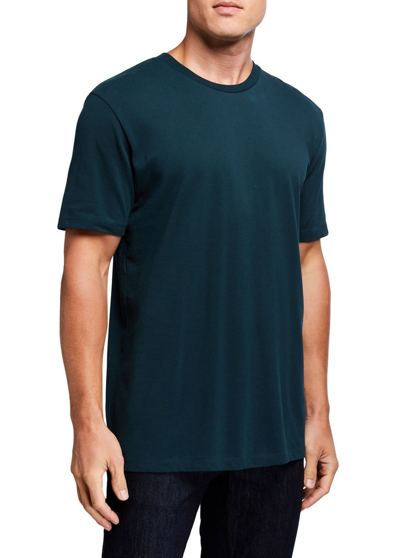 Scotch & Soda Men's Solid Cotton Pique Crewneck T-Shirt