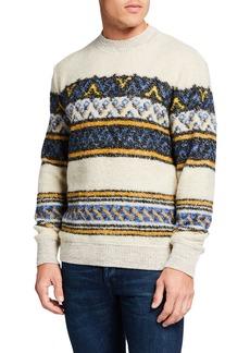 Scotch & Soda Men's Striped Boucle Jacquard Sweater