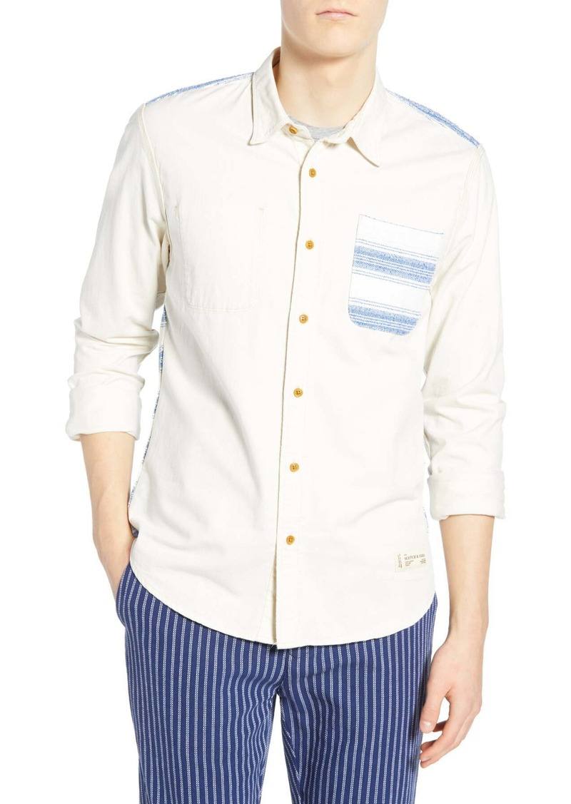 Scotch & Soda Mixed Panel Woven Shirt