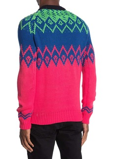 Scotch & Soda Mixed Pattern Crew Neck Sweater
