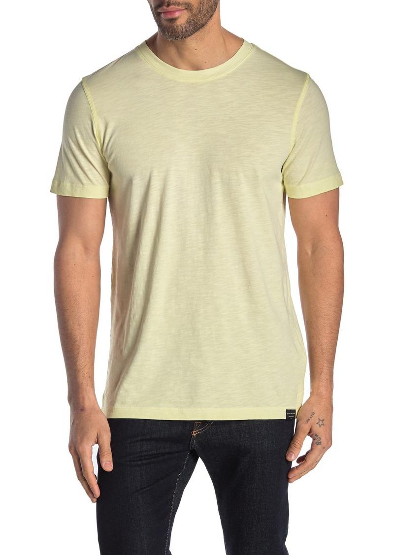 Scotch & Soda Oil-Washed Crew Neck Slub T-Shirt