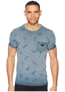 Scotch & Soda Oil-Washed Tee with Cut & Sewn Styling