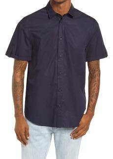 Scotch & Soda Oversize Short Sleeve Button-Up Sateen Shirt