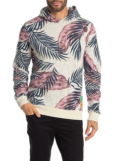 Scotch & Soda Palm Print Flecked Pullover Hoodie