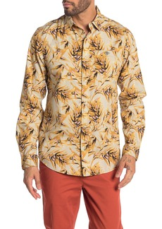 Scotch & Soda Palm Print Relaxed Fit Shirt