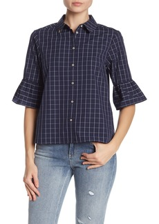 Scotch & Soda Patterned Bell Sleeve Shirt