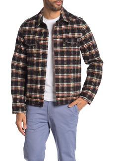 Scotch & Soda Plaid Brushed Cotton Trucker Jacket