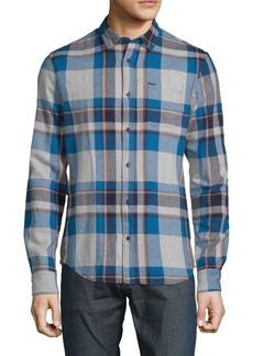 Scotch & Soda Plaid Cotton Button-Down Shirt