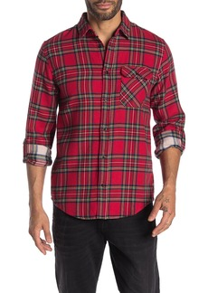 Scotch & Soda Plaid Print Relaxed Fit Woven Shirt
