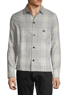 Scotch & Soda Plaid Spread-Collar Shirt