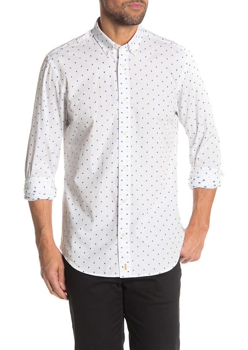 Scotch & Soda Dot Fill Relaxed Fit Sport Shirt