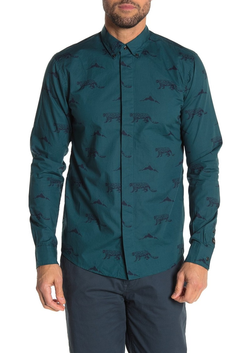 Scotch & Soda Print Regular Fit Shirt