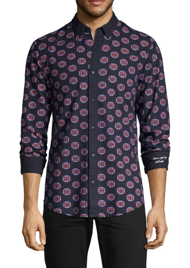 Scotch & Soda Printed Long-Sleeve Shirt