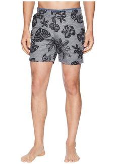 Scotch & Soda Printed Melange Swim Shorts with Cut & Sewn Waistband