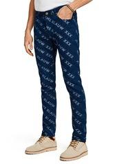 Scotch & Soda Ralston Indigo Jacquard Regular Slim Fit Jeans
