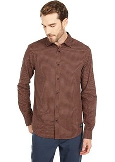 Scotch & Soda Regular Fit - Structured Check Shirt with Tape Sleeve Detail
