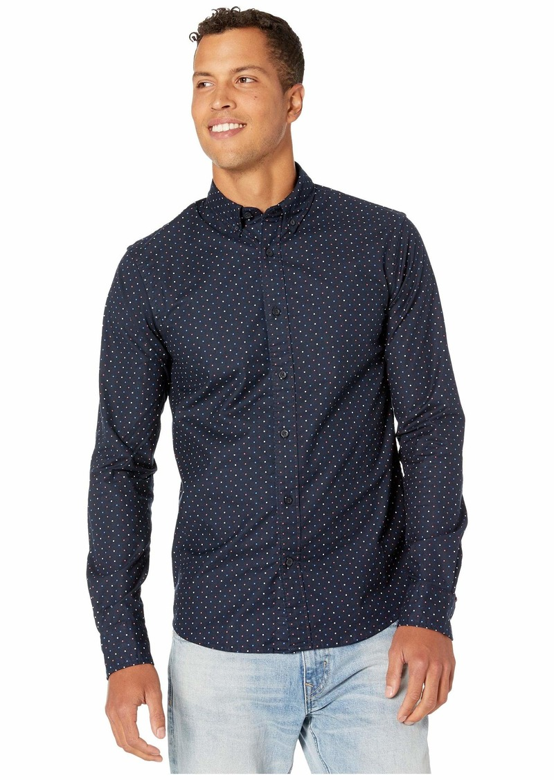 Scotch & Soda Regular Fit Classic Oxford Shirt w/ All Over Print