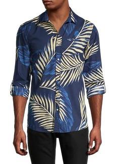 Scotch & Soda Regular-Fit Palm Print Sport Shirt