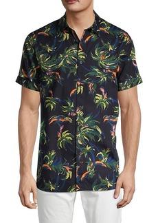 Scotch & Soda Regular-Fit Tropical Print Sport Shirt