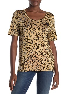 Scotch & Soda Relaxed Fit Leopard Scoop Neck T-Shirt