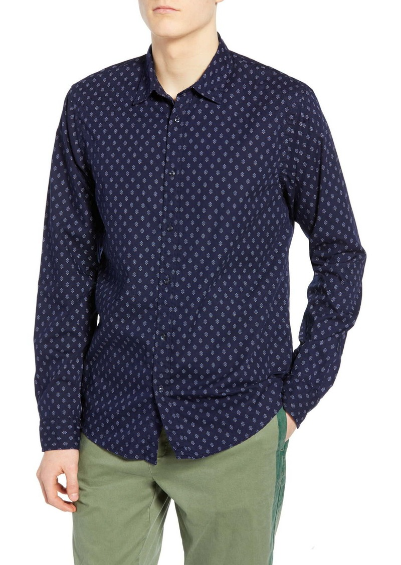 Scotch & Soda Geo Print Relaxed Fit Shirt