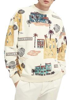 Scotch & Soda Allover Graphic Sweatshirt