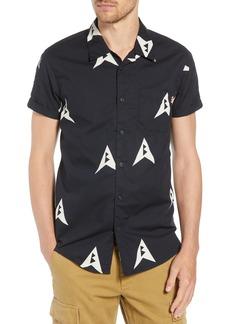 Scotch & Soda Amsterdams Blauw Allover Print Camp Shirt