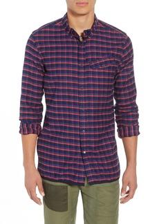 Scotch & Soda Amsterdams Blauw Check Flannel Sport Shirt