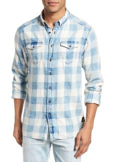 Scotch & Soda Amsterdams Blauw Check Shirt
