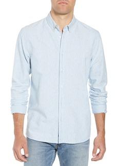 Scotch & Soda Amsterdams Blauw Striped Sport Shirt