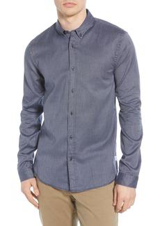 Scotch & Soda Blauw Button-Down Oxford Sport Shirt