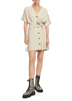 Scotch & Soda Button Front Safari Dress
