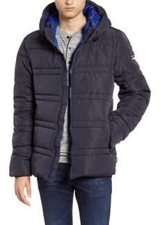 Scotch & Soda Channel Quilted Hooded Jacket