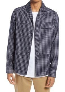 Scotch & Soda Check Shawl Collar Button-Up Shirt