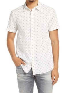 Scotch & Soda Classic Fit Short Sleeve Button-Up Shirt
