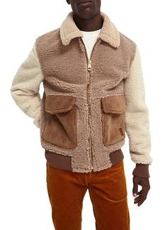 Scotch & Soda Colorblock Fleece Bomber Jacket