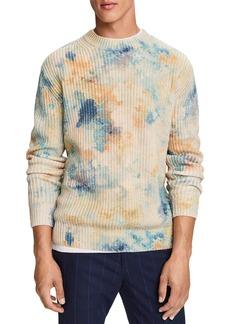 Scotch & Soda Cotton Blend Ice Dyed Print Slim Fit Sweater