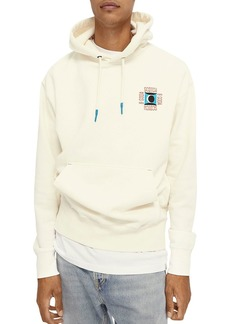 Scotch & Soda Cotton Blend Logo Embroidered Regular Fit Hoodie