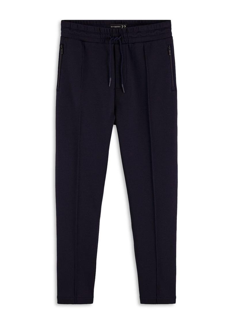 Scotch & Soda Cotton Blend Piqu� Slim Fit Track Pants