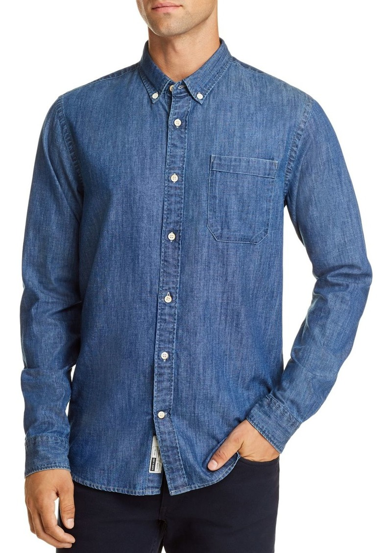 Scotch & Soda Denim Regular Fit Button-Down Shirt
